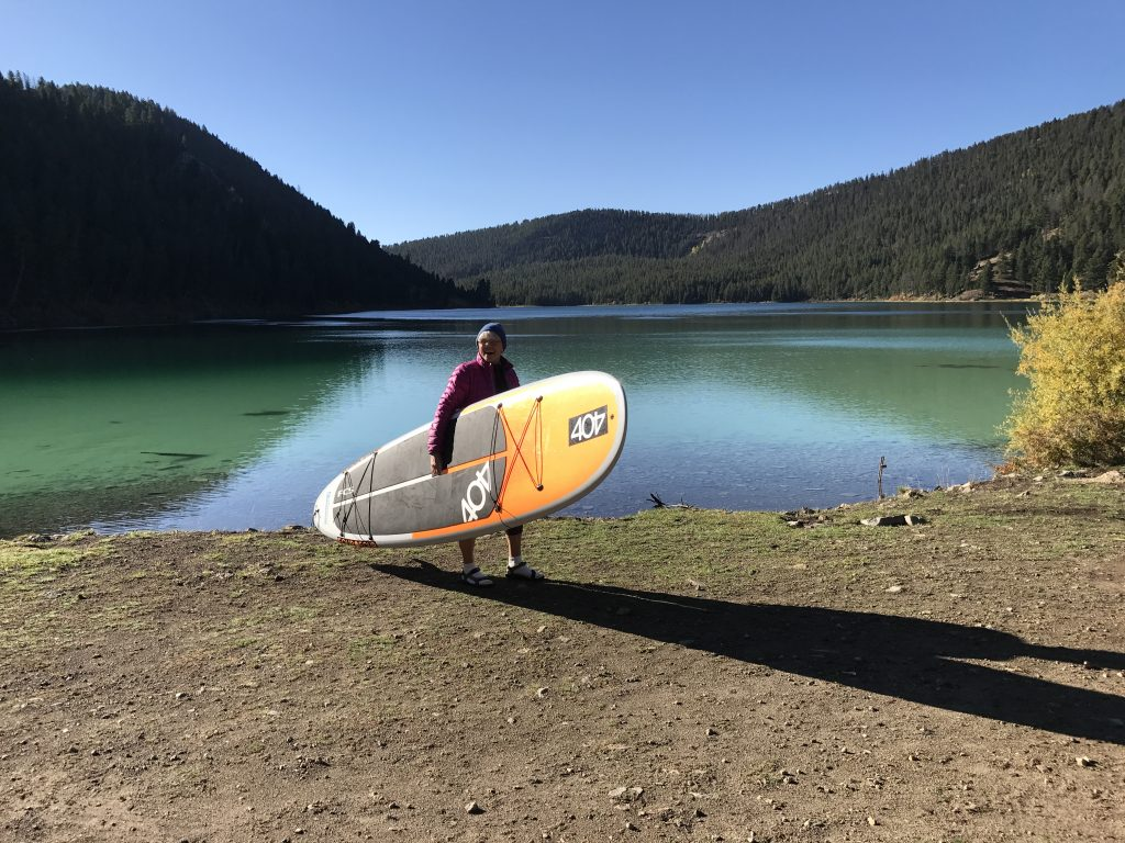 A rigid paddleboard