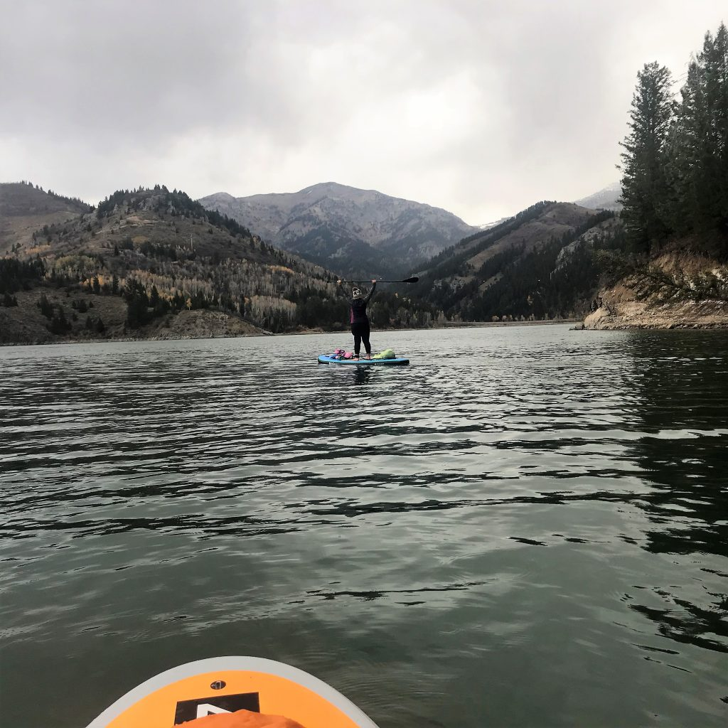 Paddleboarding Palisade Reservoir in Late October