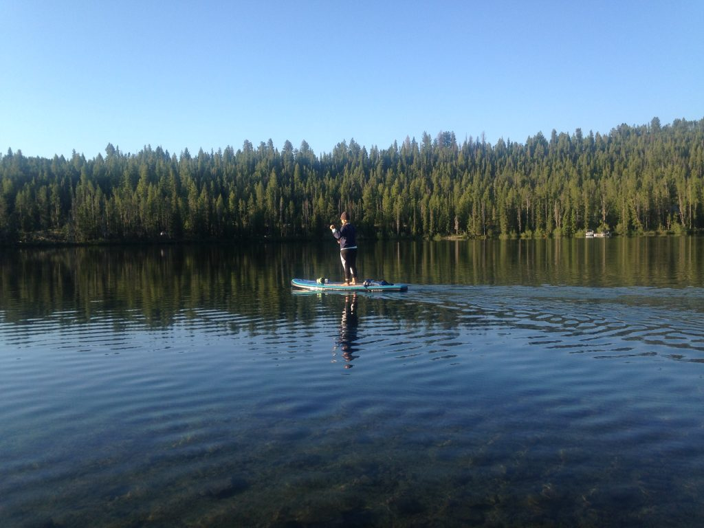 Paddleboarding on Pettit Lake